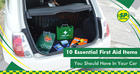 10 Essential First Aid Items You Should Have In Your Car