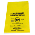 Clinical Waste Bags - Yellow - Pack of 50